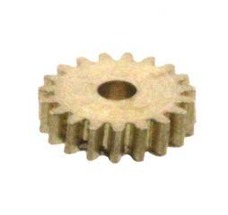 Zahnrad, 19 Zähne, Modul 0.2, für Schnecke