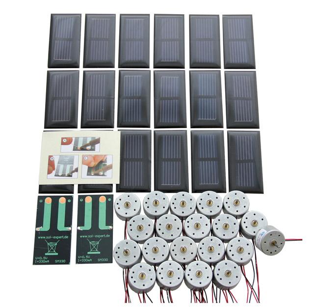 Klassensatz Solarantrieb basic - mit Lötanschluss