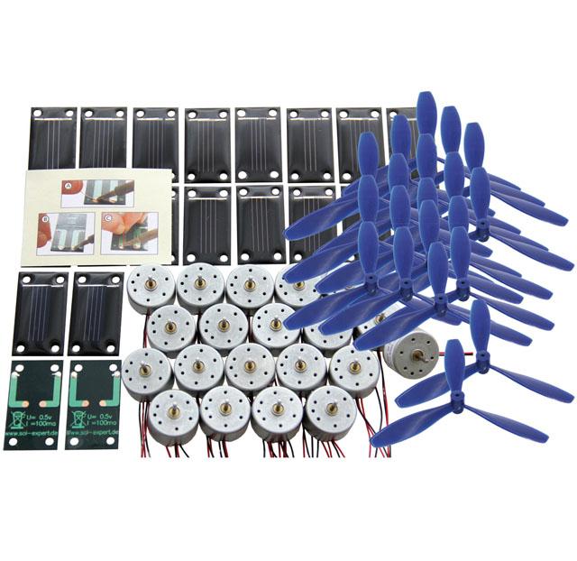 Klassensatz Solarantrieb Sonnenschein I -  Lötanschluss, mit Luftschraube