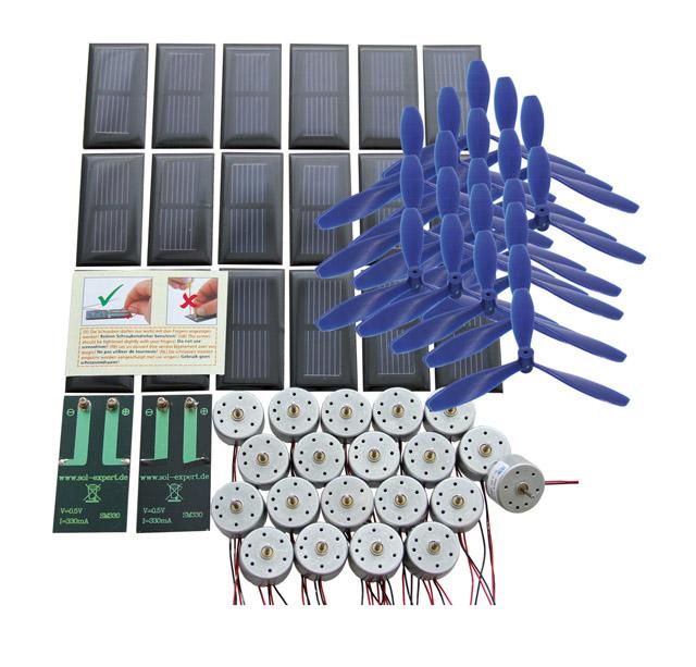 Klassenset aandrijving op zonne-energie basic I – schroefbare aansluiting, met luchtschroef