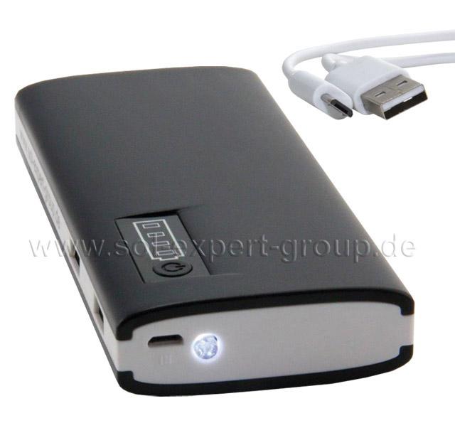POWERBANK MAX, Mobile Stromversorgung, 13000 mAh, 2 USB-Ausgänge