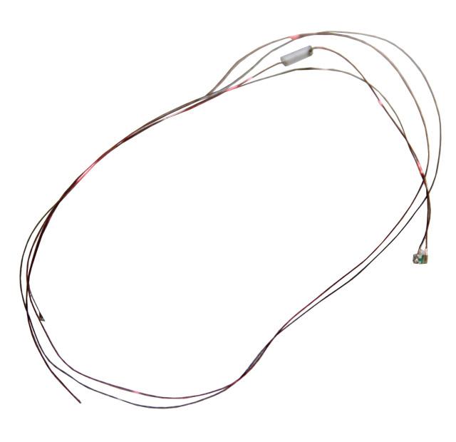 Leuchtdiode 0603, blau, mit Kabel, 12-18 V