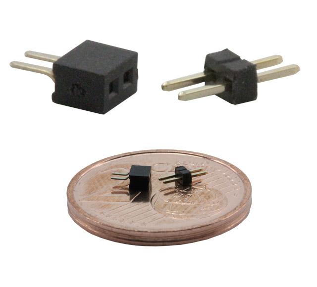 Mikro-Steckverbindung BS21, 2 polig, 1 mm Raster