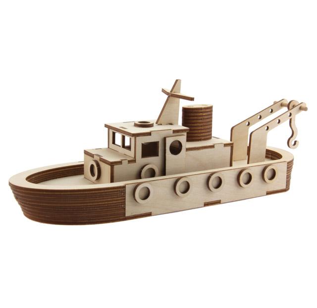 Hafenschlepper Speedy, Holzbausatz