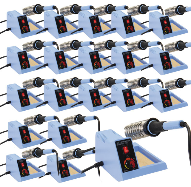 Lötstation 48 Watt, regelbar, mit Lötständer, 20er Set