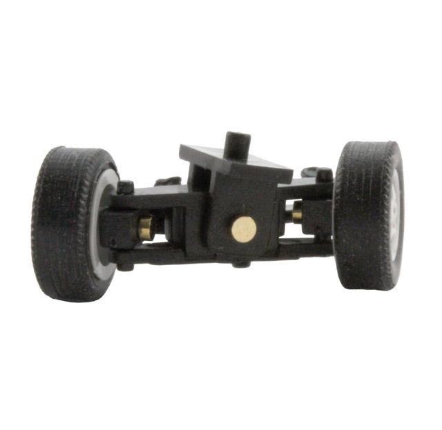 Lenkung für 1:87 PKW, fertig montiert, Spurbreite 16,5 mm