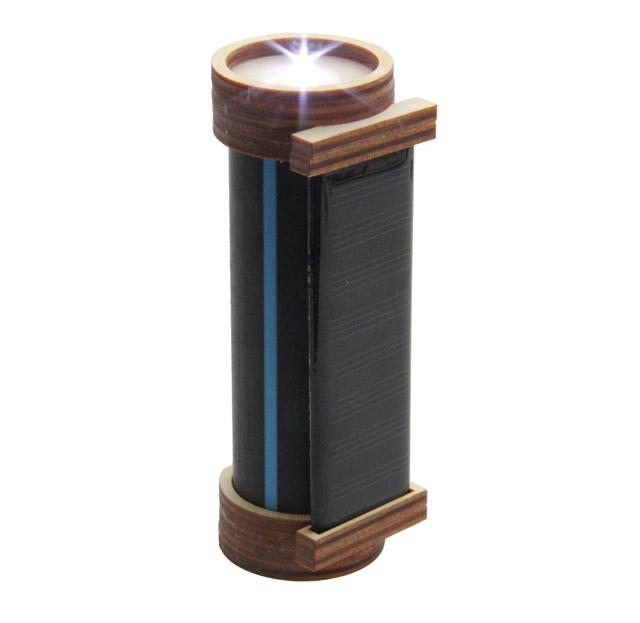Wasserrohr-Solar-Taschenlampenbausatz, mit Akku und allen Bauteilen
