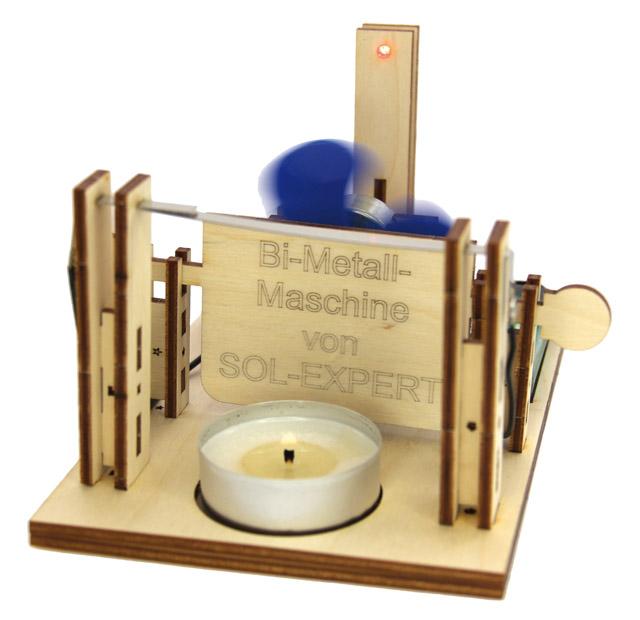 Bimetall-Maschine, Holzbausatz