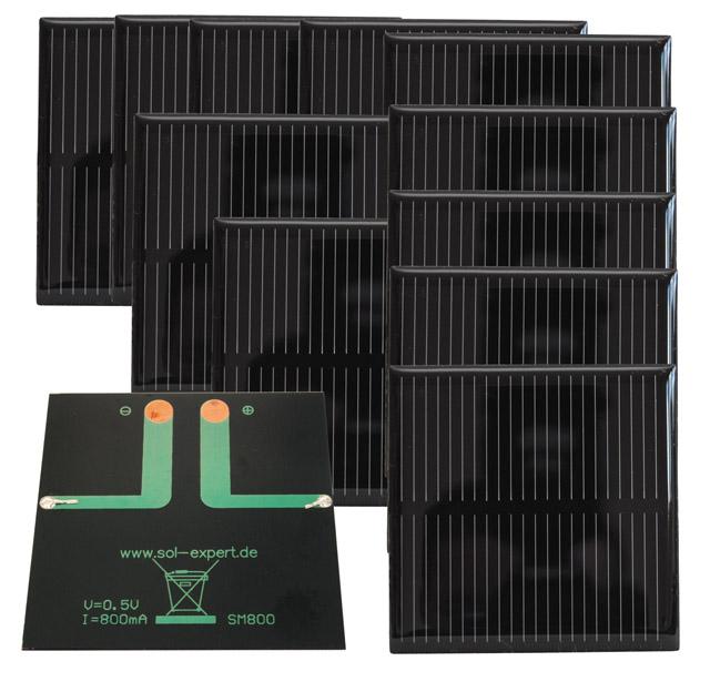 Solarmodul SM80010S, vergossen, 10er Set. Günstiger SONDERPOSTEN!