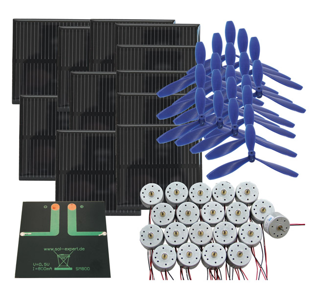 Klassensatz Solarantrieb EXTRA POWER - Lötanschluss, mit Luftschraube. SONDERPREIS!