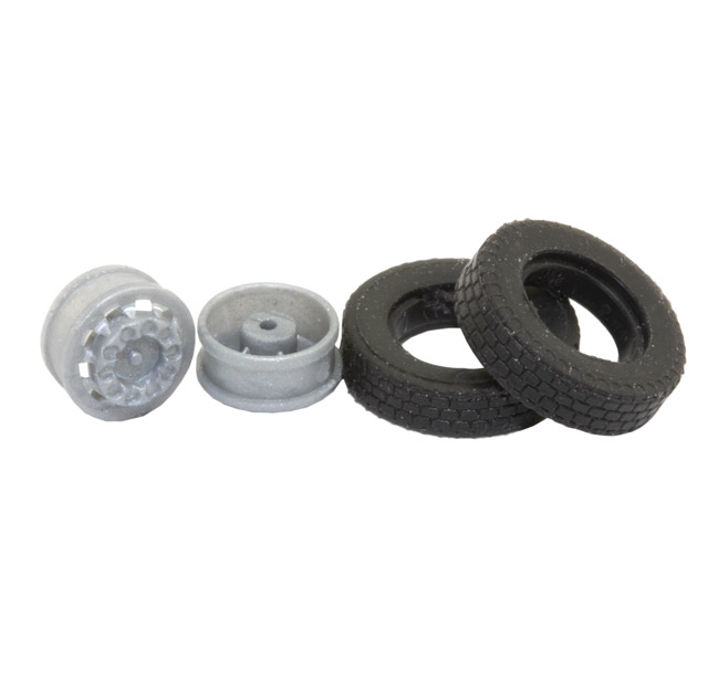 2er-Set LKW-Räder für den Maßstab 1:87, Reifenbreite 3,1 mm