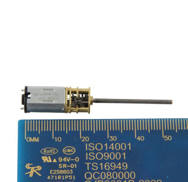 Mikro-Getriebe G100M, 1:100 mit M2 Gewindestange