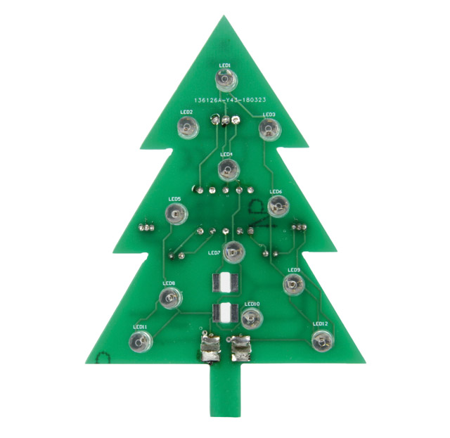 Christmas tree with candle LEDs, solder kit