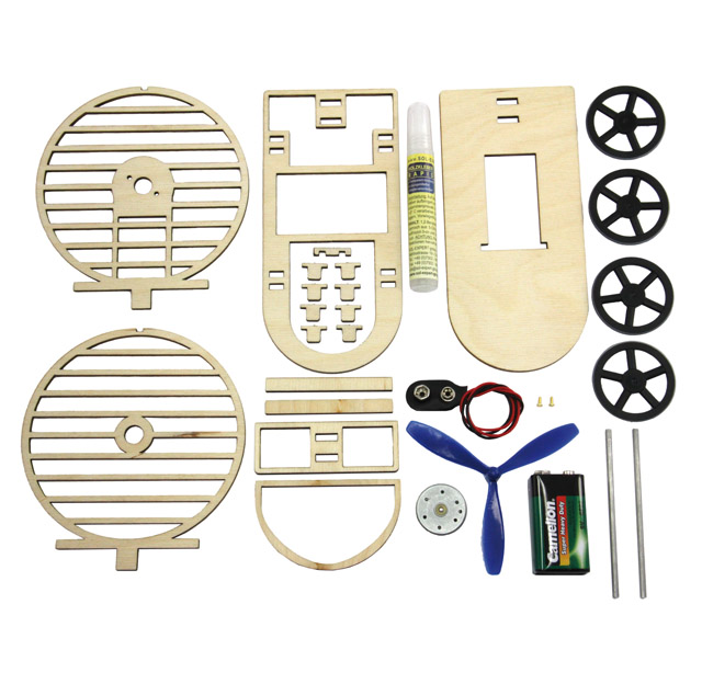 Wooden kit StormCar, for soldering