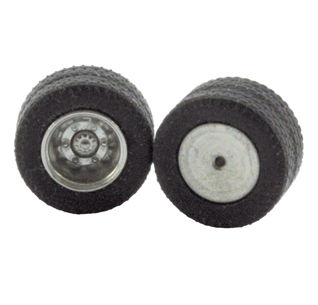 1:87 truck double tires, real metal rims