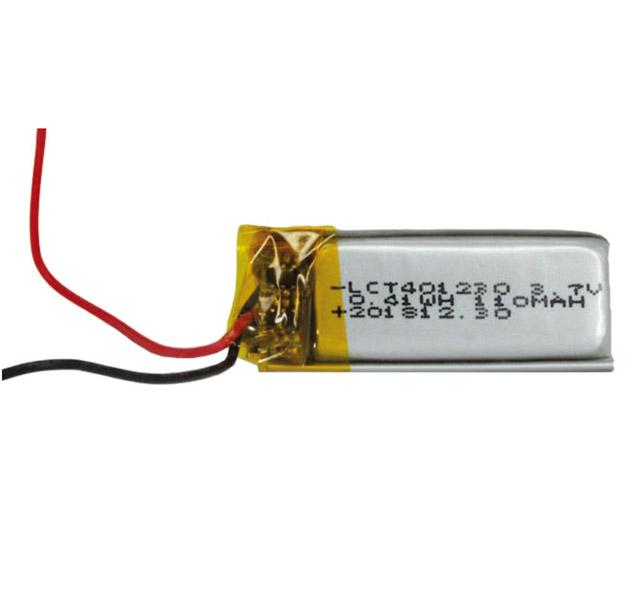Lithium-Polymer Akku mit 110 mAh, schmale Ausführung