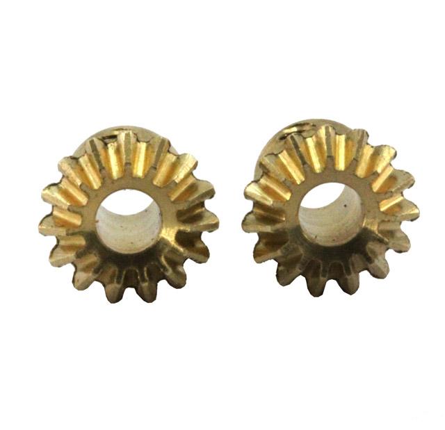 Kegelzahnrad-Satz, 2 Stück, Modul 0.5, 15 Zähne, passend für alle Metallgetriebe mit 3 mm Welle
