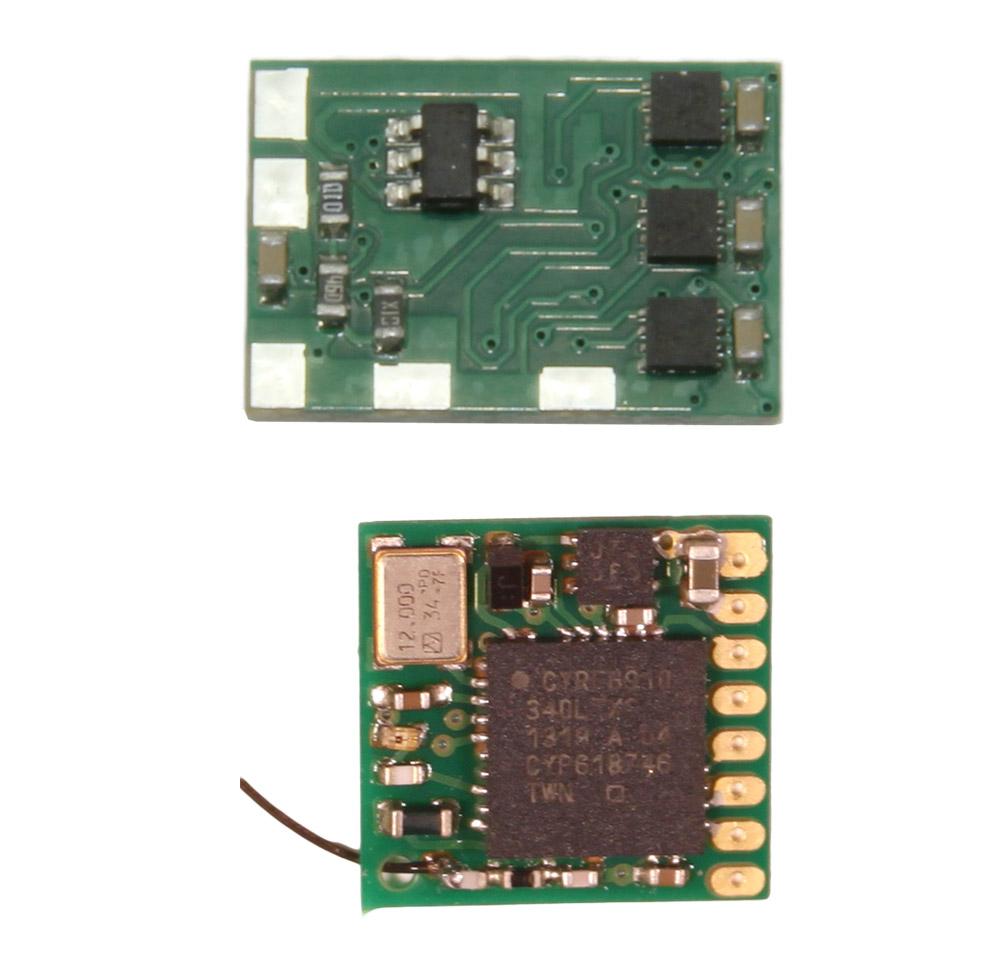 RSL Kompakt - Set mit Empfänger zur Ansteuerung für 3 Motoren, 4 Servos und alle Lichtfunktionen