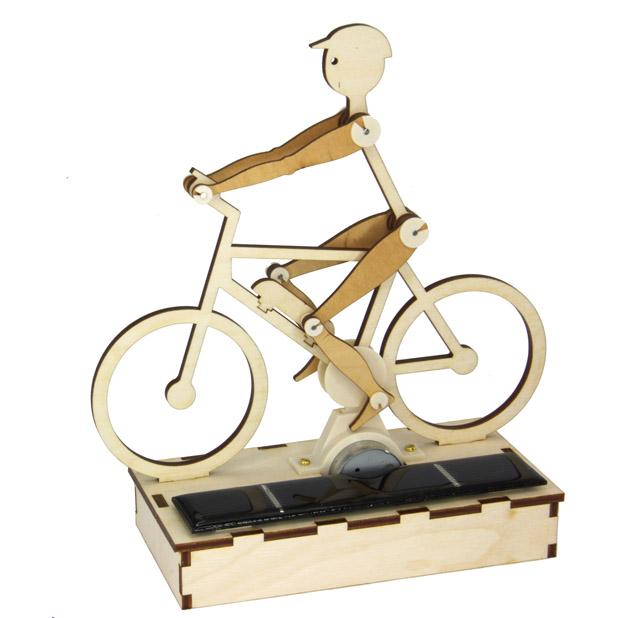 Solar Radler / E-Biker, Holzbausatz zum Selberbauen
