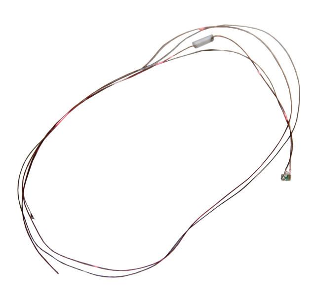LED 0201, kaltweiß, 3.7 - 4.8 V, mit Kabel und Widerstand