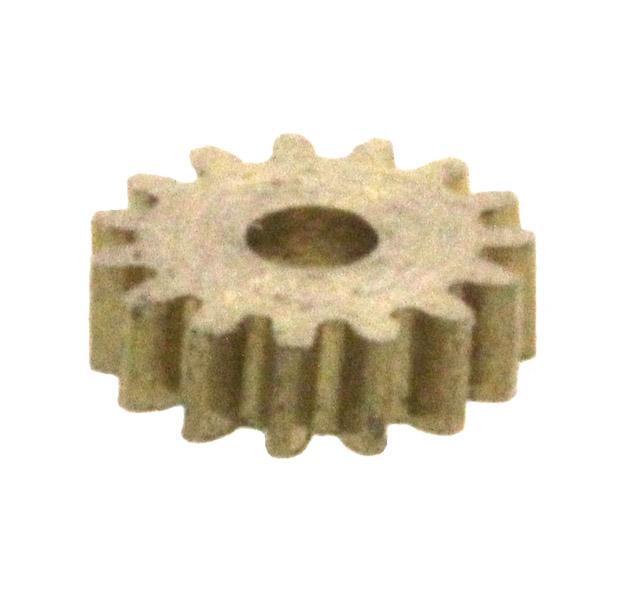 Zahnrad, 15 Zähne, Modul 0.2, für Schnecke