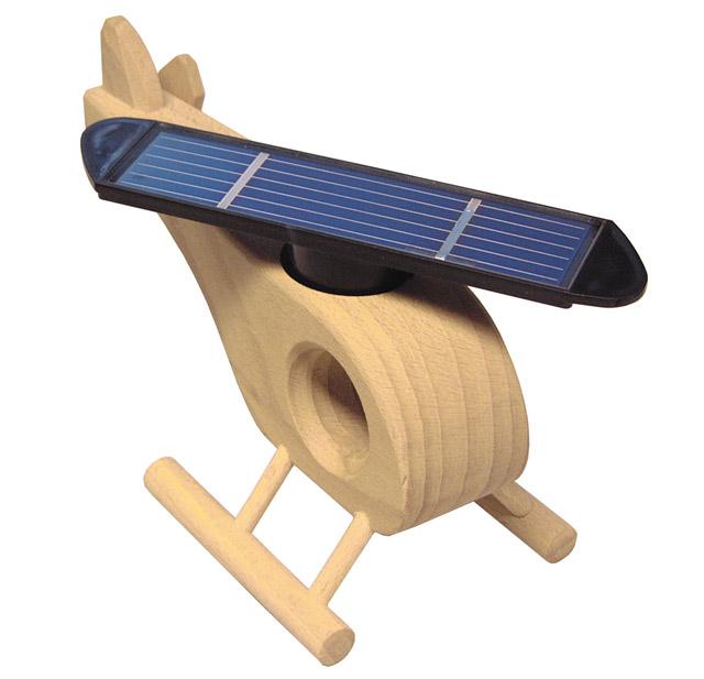 Holz-Hubschrauber mit Solar Rotor