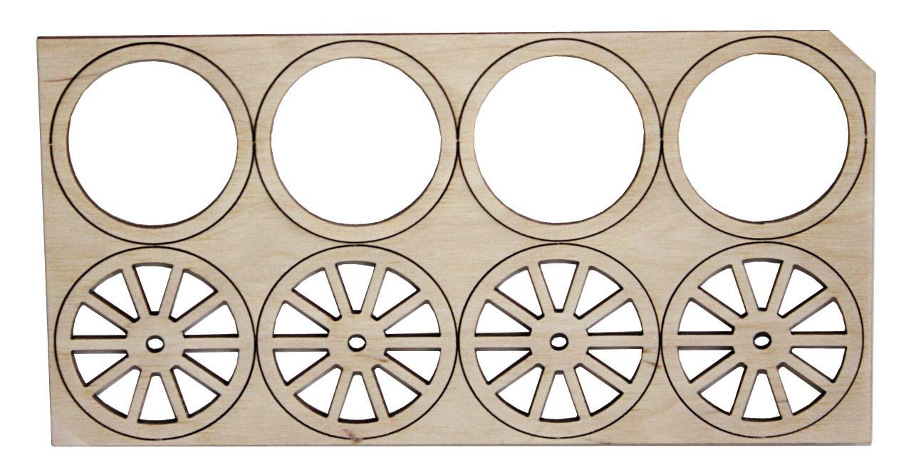 Speichenräder mit Rädern, Durchmesser: 45 mm