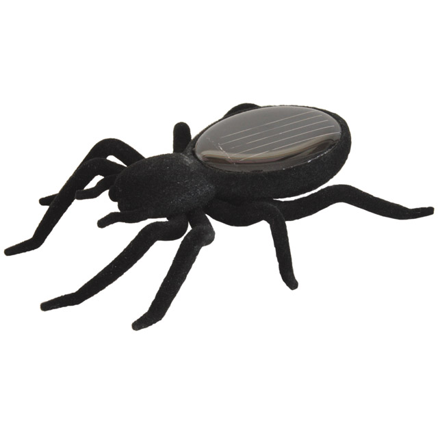 Solar Spinne, schwarz