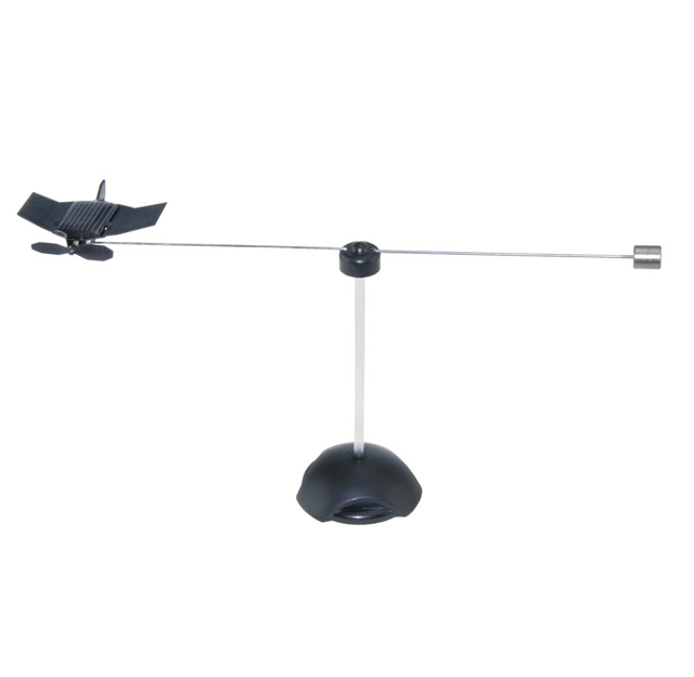 Solar rotating aeroplane Black Hawk construction kit