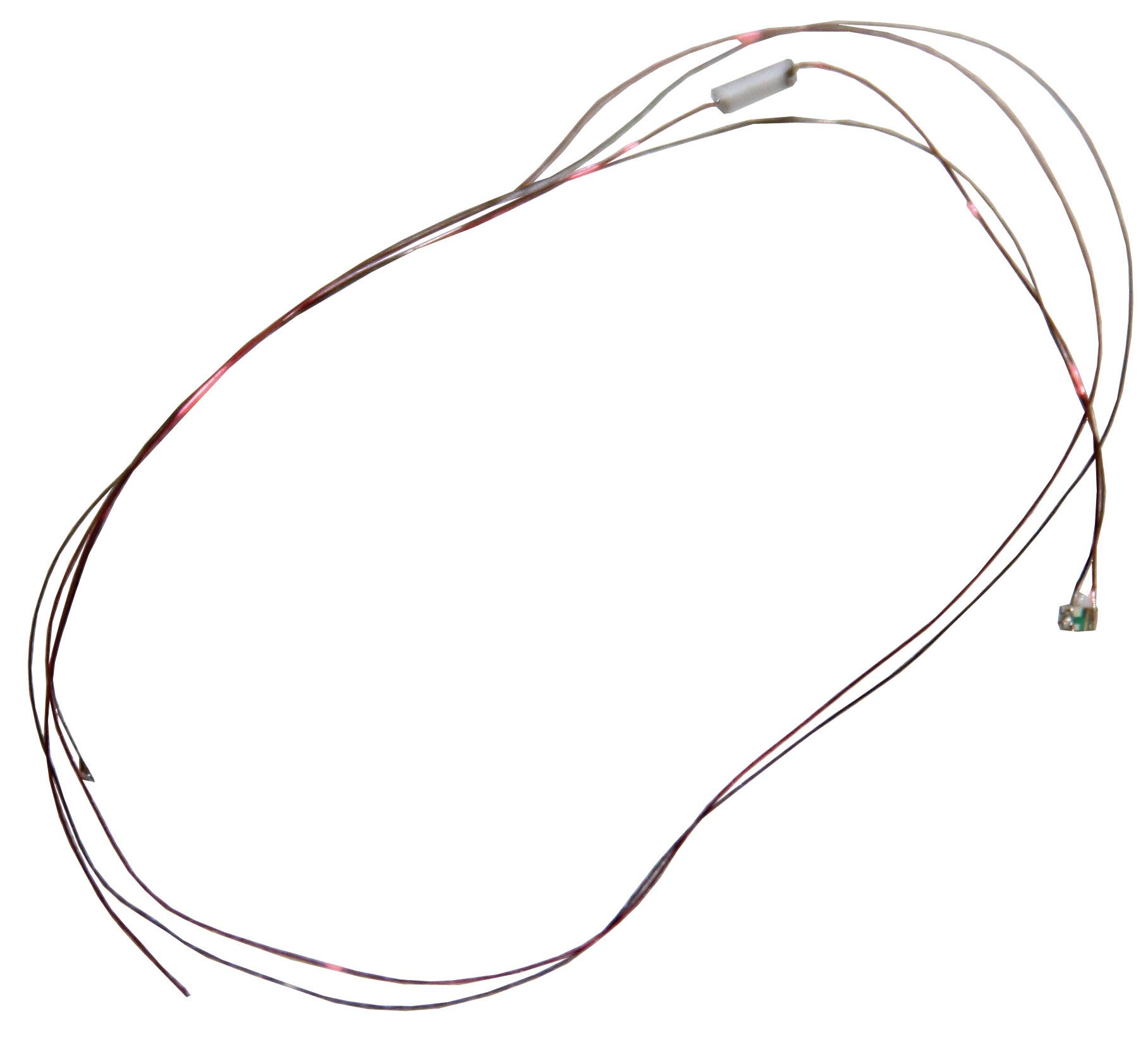 Leuchtdiode 0603, warmweiß mit Kabel, 3,7-4,8 V