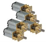 Engine G100-12 with metal gearbox, for 12–18 Volt, set of 5