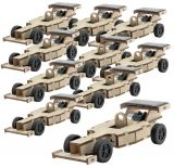 Solar racing car, set of 10