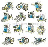 14-in-1, 14 different solar powered robots, construction set