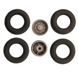 Truck double tires with wide tires B6B for 1:87 trucks