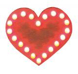 Lötbausatz Herz, mit Blinkfunktion und Dauerleuchten