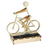 Solar cyclist / e-biker, wooden do-it-yourself kit