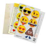 Laubsägevorlage emoji®, Smileys