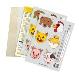 Laubsägevorlage emoji®, Tiere auf dem Bauernhof